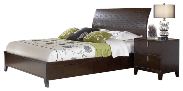 Modus Legend Wood 2-Piece Storage Bedroom Set in Chocolate Brown traditional-bedroom-products