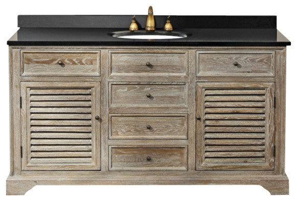 cotuit 59-in single vanity (weathered w/ white carrera) transitional-bathroom-vanities-and-sink-consoles