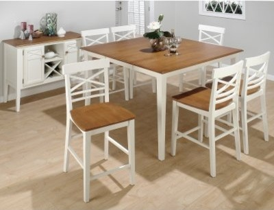 stratford 7 pc solid wood 6 chair counter height table