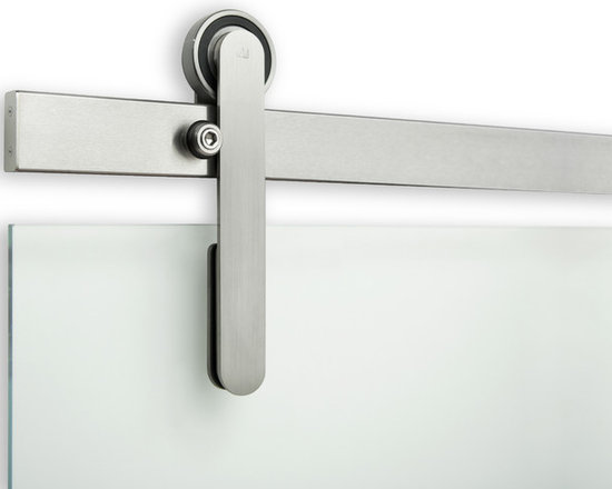 ODEN Sliding Door Hardware - This pure, refined sliding door hardware system makes a statement in any application. Hidden fasteners, and sealed bearings add to the clean-line aesthetics of this product. A sleek and subtle statement capturing timeless precision.