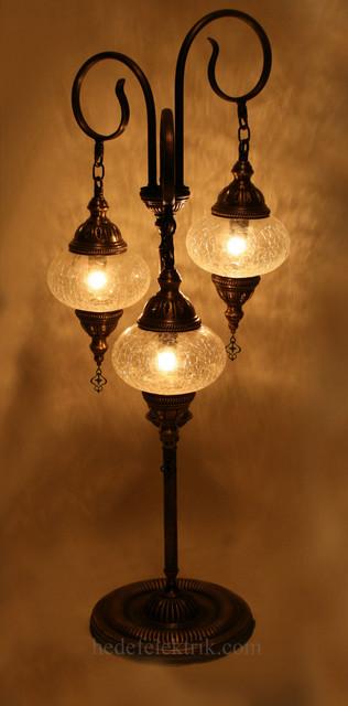 Turkish Style Transparent Glass Floor Lamp