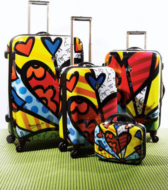 Britto Heart Luggage eclectic clothes and shoes organizers