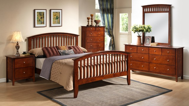 lifestyle b8137 queen mission style bedroom set