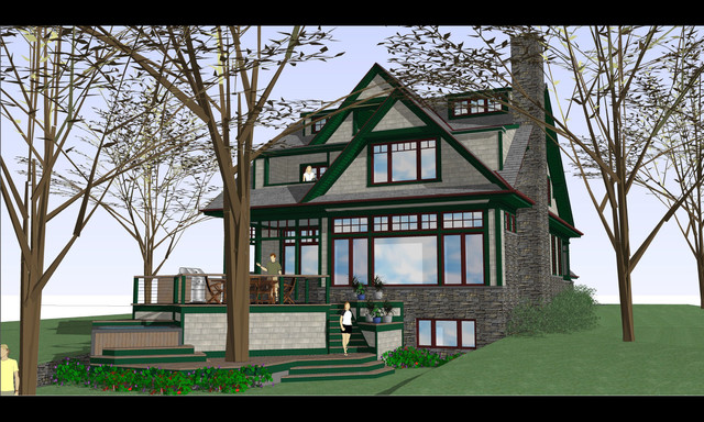 10  --  Edgewater Waterfront Home  -  Photo 09 traditional-rendering