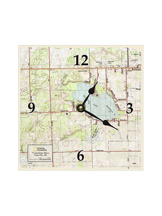 My Town Topo! Map Clock -