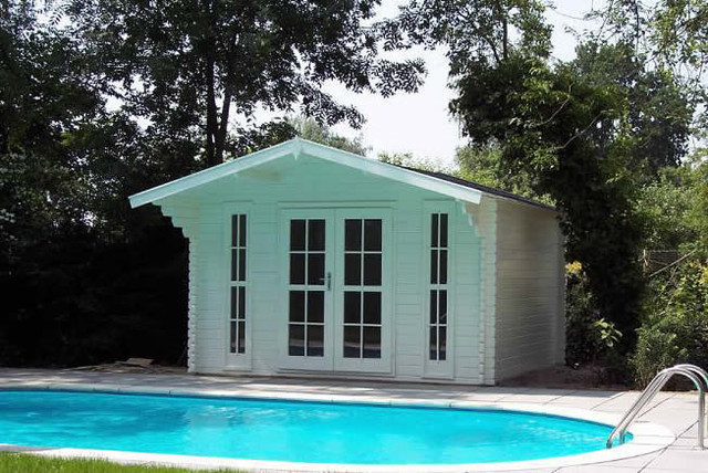 Bristol garden shed pool house for Pool house shed plans