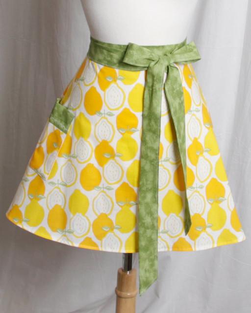 Lemons Half Apron by Apron Queen modern-aprons