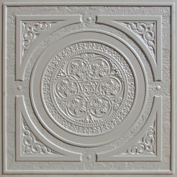 225 White Pearl Decorative Ceiling Tile 24x24 Steampunk
