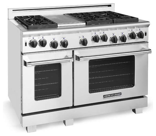 """Universal Appliance And Kitchen Center: American Range 48"""" Heritage Classic Range, Stainless Steel"""