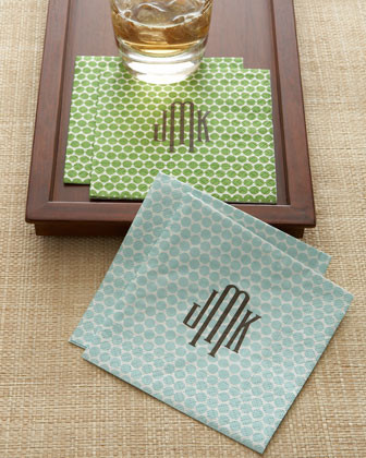 Personalized Dots Cocktail Napkins traditional-napkins