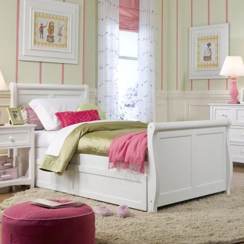Schoolhouse Sleigh Bed White Traditional Kids Beds