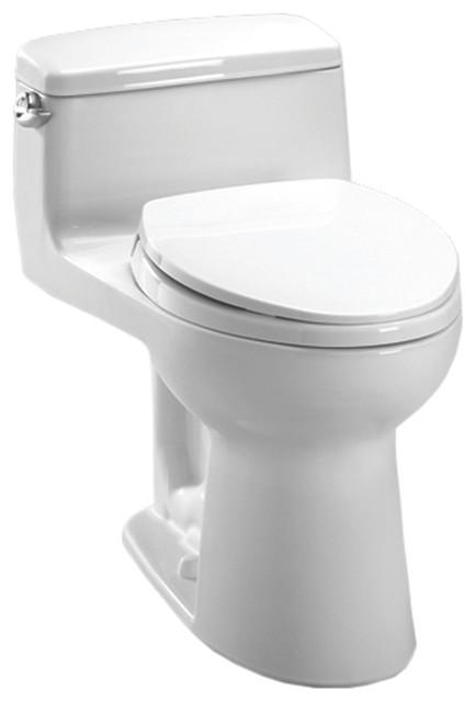 Toto MS864114E#01 Cotton White Eco Supreme One Piece Toilet, 1.28 GPF modern-toilets