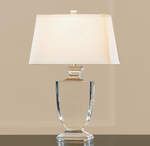 palladian crystal urn table lamp traditional table. Black Bedroom Furniture Sets. Home Design Ideas