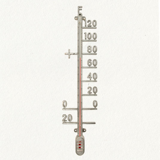 Zinc Outdoor Thermometer - eclectic - outdoor decor - - by Terrain