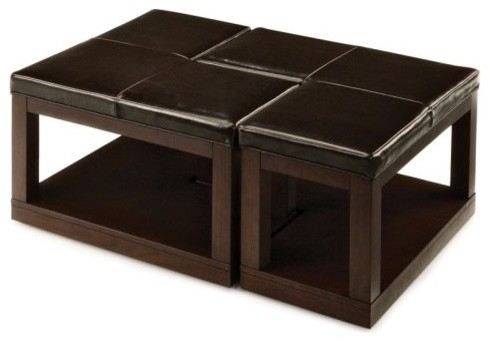 Pieces L-Shaped Coffee Table Ottoman contemporary-coffee-tables