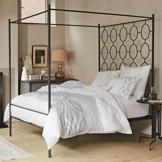 ellipse metal canopy bed modern canopy beds by west elm