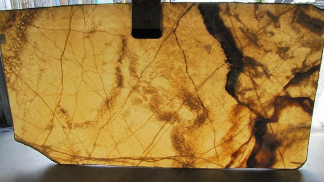 Amber Onyx Slabs : Amber onyx vanity tops and side splashes miami by br
