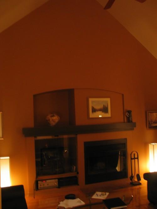 Client rive sud mtl salon et foyer pi ce central avant et for Decoration foyer salon
