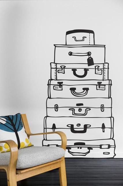 Ferm Living Suitcases WallSticker modern-kids-wall-decor