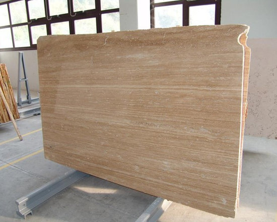 Travertine Tile New Jersey - Polished Travertine Vein Cut  Slab Wholesale Warehouse Garfield Tile Outlet New Jersey