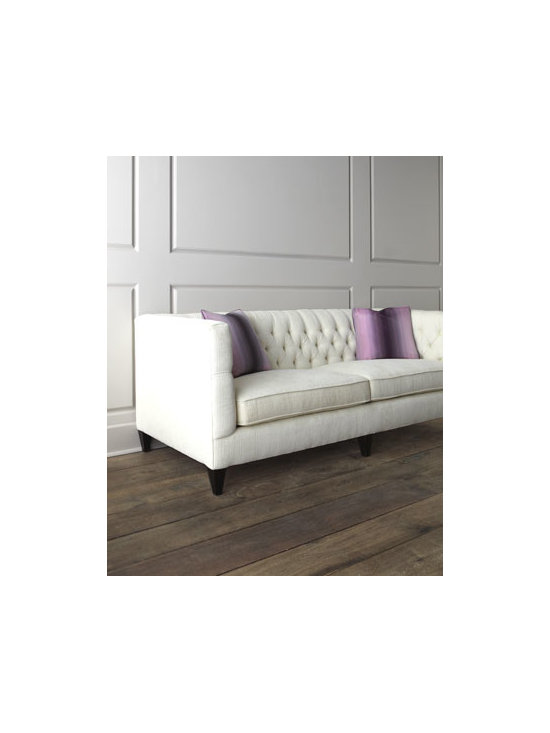 """Bernhardt - Bernhardt """"Fulton"""" Tufted Sofa - So inviting—this classic take on a modern designed button-tufted sofa is destined to grace any decor. Upholstered in rayon/polyester. Feather/down throw pillows covered in polyester; 20""""Sq. Sinuous-spring construction. 83""""W x 36""""D x 33""""T. Mad..."""
