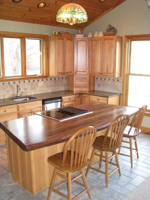 Walnut Wood Countertop traditional kitchen countertops