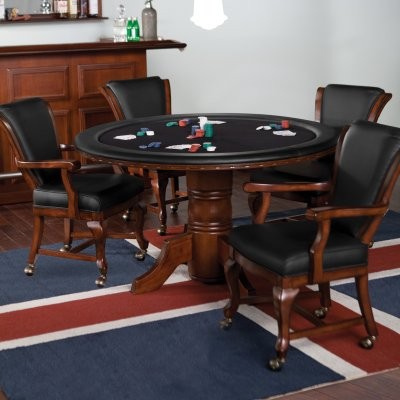 Avalon 5 pc. Game Table and Chairs Set modern-dining-tables
