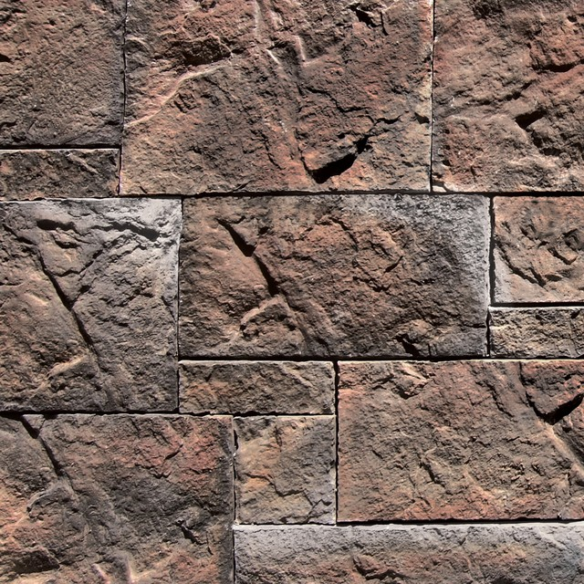 Coronado Belgian Castle Stone Veneer - Color: Dakota Brown - Stone Veneer traditional-siding-and-stone-veneer
