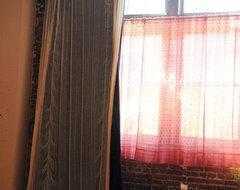 velvet curtains eclectic