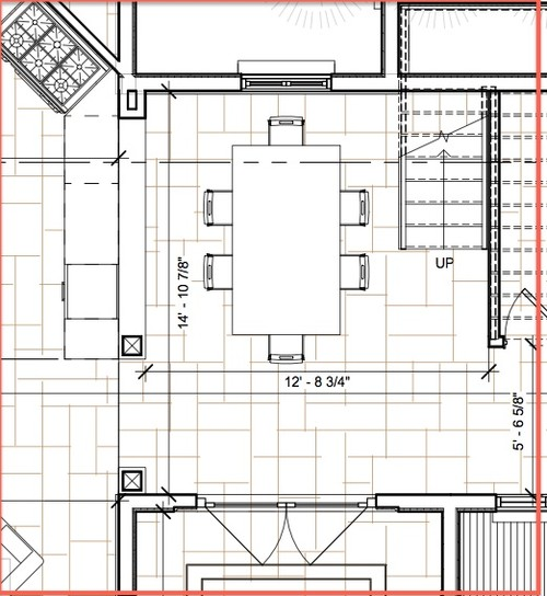Need help for small dining room design for Dining room dimensions
