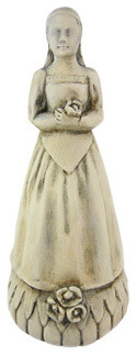 Saint Dorothy Plaster Finish Statue Patron Gardening traditional-decorative-objects-and-figurines