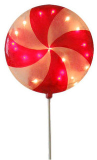 Illuminated Christmas Lollipop Decoration traditional-outdoor-holiday-decorations
