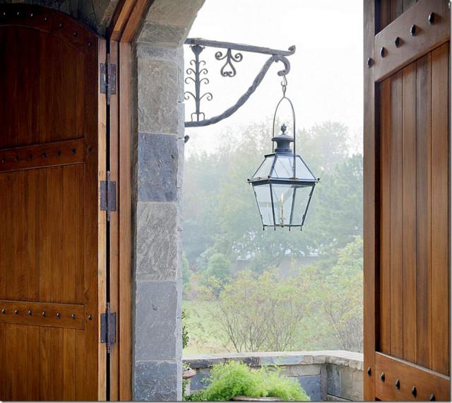Tuscan Villa traditional-entry