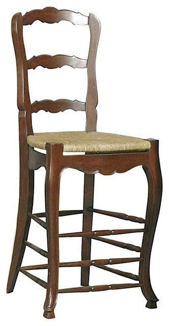 Furniture Classics Walnut Brown French Country Barstool contemporary-bar-stools-and-counter-stools