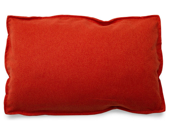 Blu Dot - Blu Dot Rectangle Pillow, Persimmon - It may have four corners, but it certainly is no square. Available in 12 colors for you to play with.