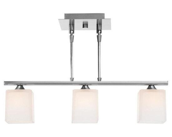 Access Lighting 64013-BS/OPL Three Light Steel Island Light -