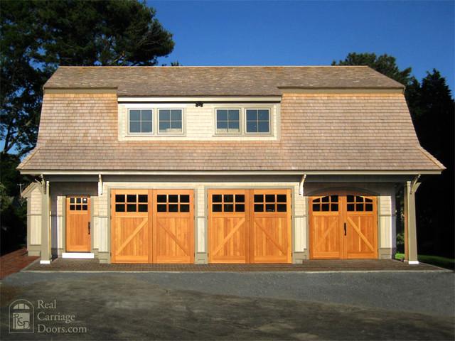 Outswing Garage Doors with matching Entry Door garage-doors-and-openers