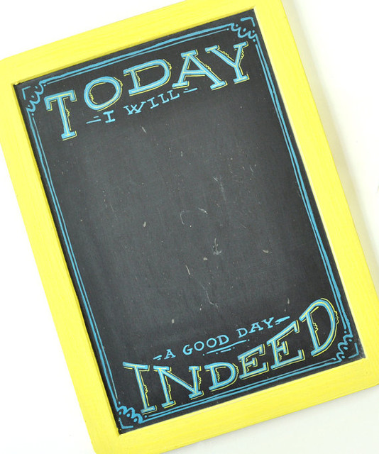 Mini Goals Chalkboard by Mary Kate McDevitt eclectic bulletin board