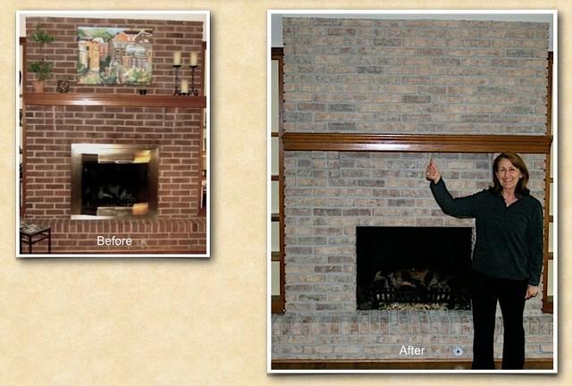 wheaton il fireplace brick staining painting