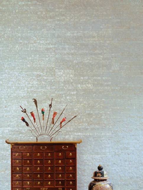 Mother of Pearl Wallcovering contemporary wallpaper