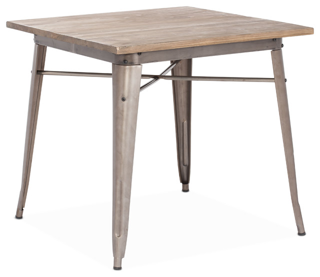 Titus Dining Table Rustic Wood Industrial Dining Tables By Zuo