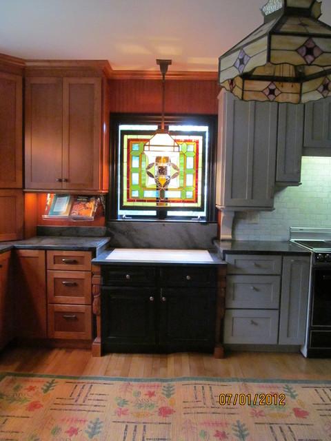 Three color kitchen