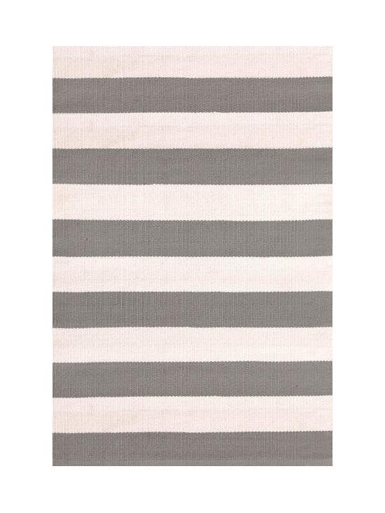 Catamaran Stripe Fieldstone/Ivory Indoor-Outdoor Rug -