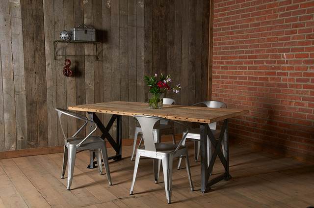 Reclaimed Wood Dining Tables Contemporary Dining Room