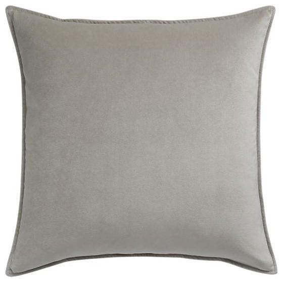 "Tempo Velvet Pumice 20"" sq. Pillow modern-decorative-pillows"