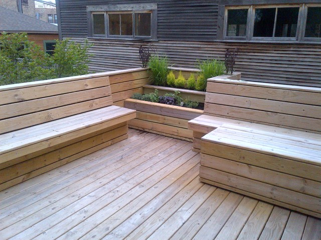 Contemporary Deck Design built