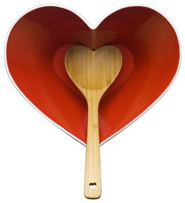 Sagaform Heart Bowl with Ladle eclectic-cooking-utensils