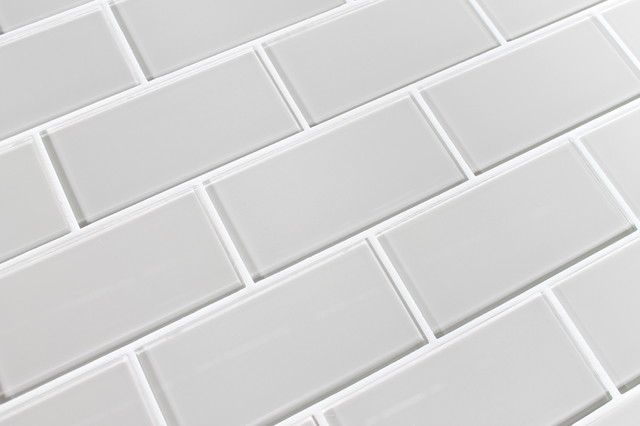 """Country Cottage 3"""" x 6"""" Glass Subway Tile contemporary-tile"""