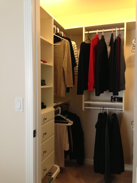 Small space storage solutions transitional closet manchester nh by closetplace - Wardrobe solutions for small spaces paint ...