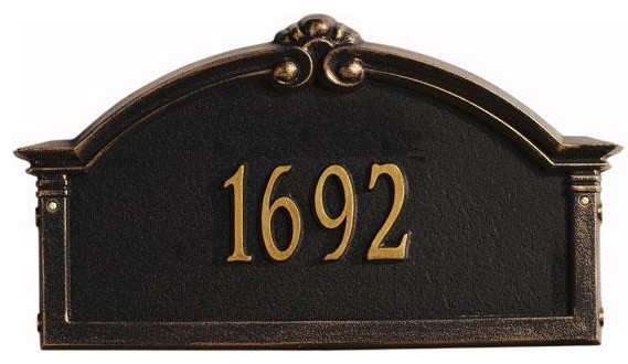 Roselyn One-Line Standard Wall Address Marker traditional-house-numbers